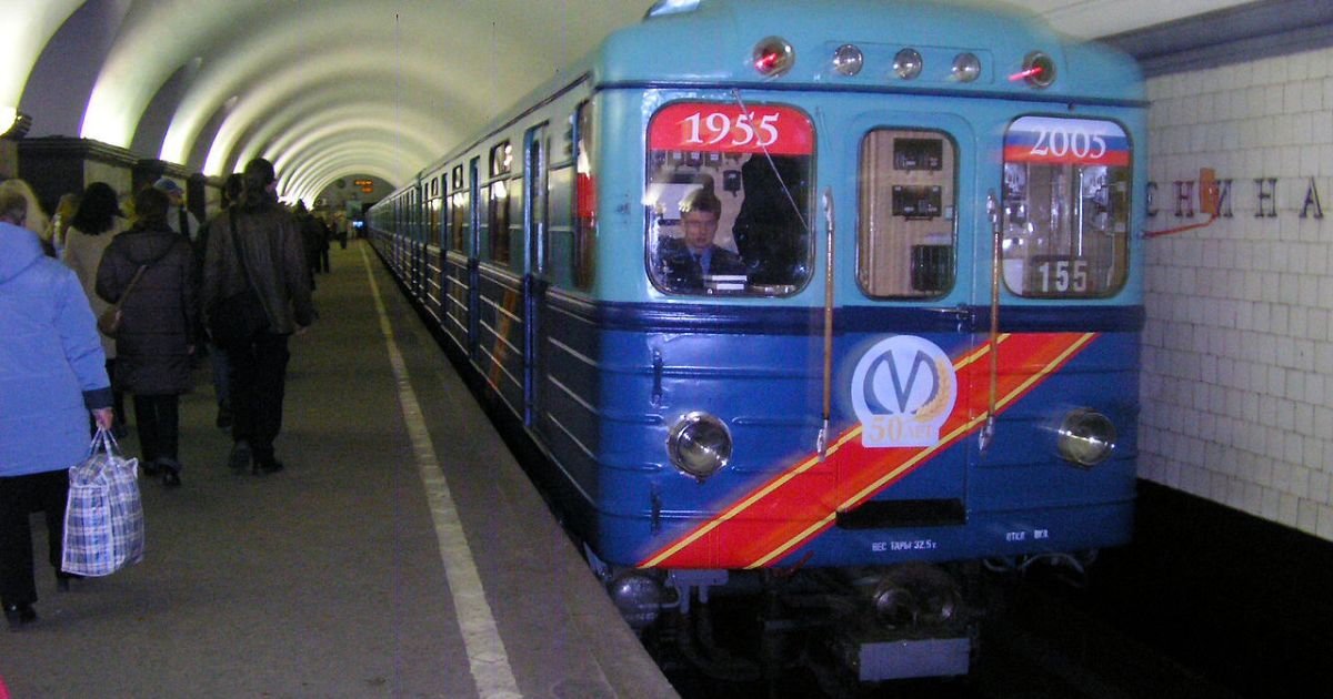Train at Saint-Petersburg metro