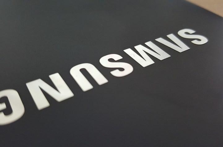 Samsung logo on a tablet
