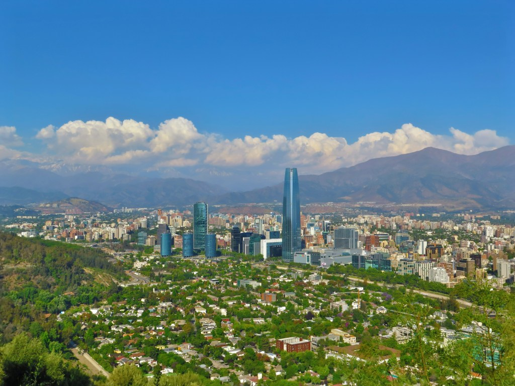 Santiago de Chile and mountains