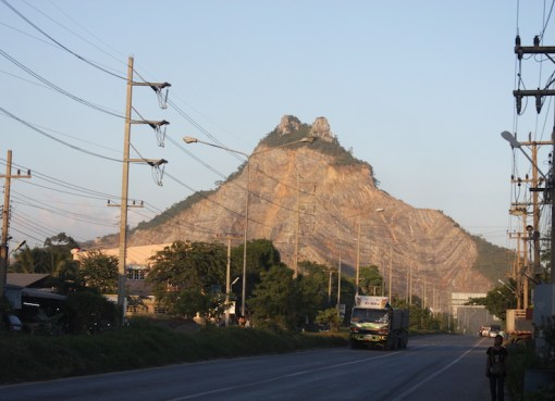 Limestone and sandstone mountain in Saraburi province