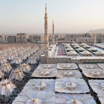 Piazza of the Prophet's Holy Mosque in Medina, Saudi Arabia