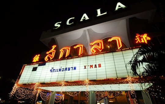 The Scala Theater in Siam Square, Bangkok, showing a Thai film, The Love of Siam by Chukiat Sakweerakul