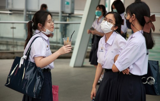 Students during the COVID-19 coronavirus outbreak in Thailand