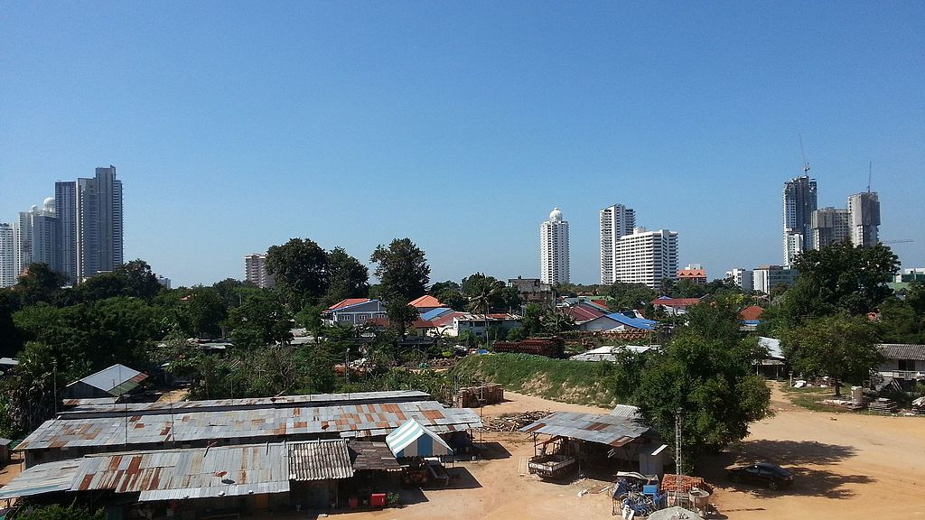 Shacks near Pattaya in Na Kluea, Bang Lamung District
