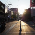 Siam Sqare, one of the busiest areas in Bangkok, is quiet during the COVID-19 outbreak