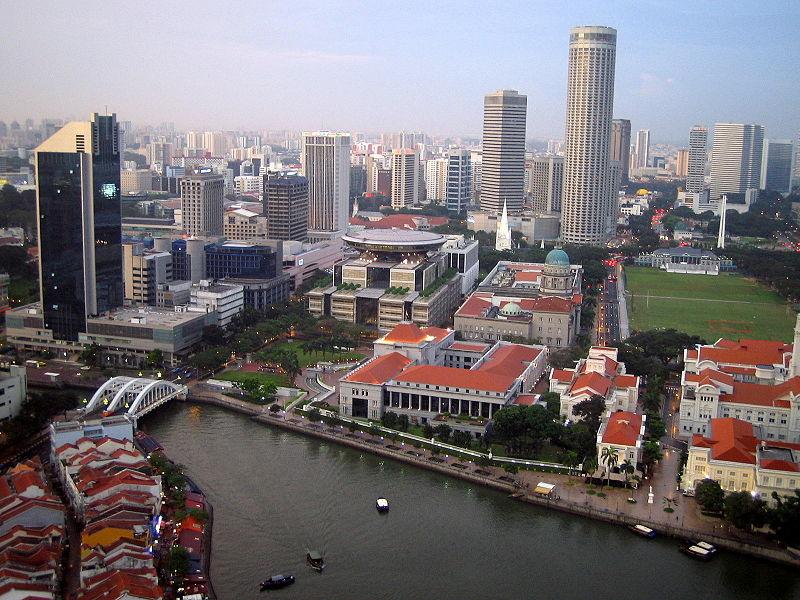 Singapore aerial view