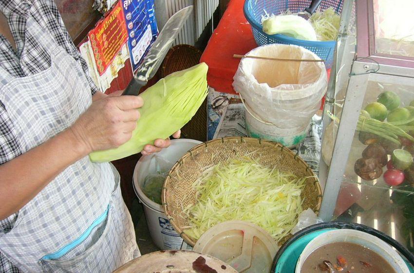Som Tum street food vendor