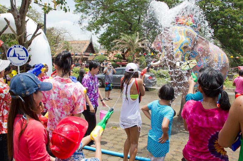 Songkran in Ayuttaya Province