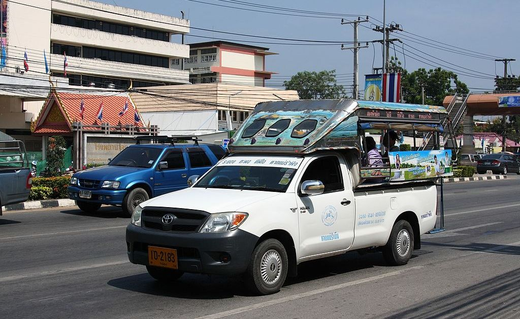 Baht bus in Rayong