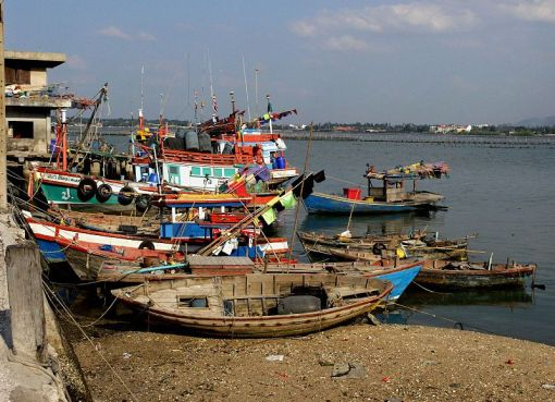 Fishing boats in Sriracha