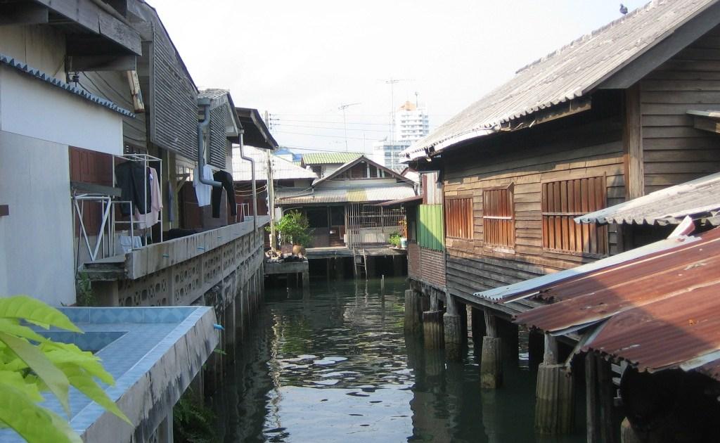 Stilt houses in Sriracha, Chonburi province