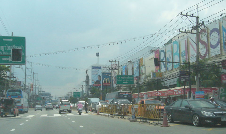 Main Road in Sriracha, Chonburi