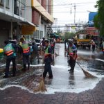 Street cleaners in Bangkok