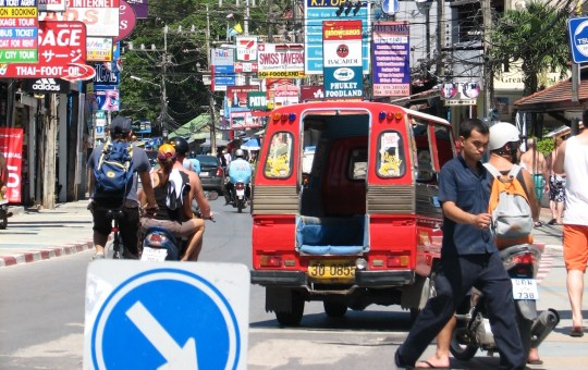Busy street in Patong, Phuket