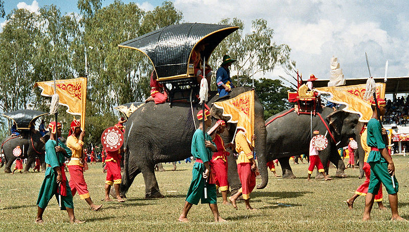 Demonstration at the Elephant Festival in Surin