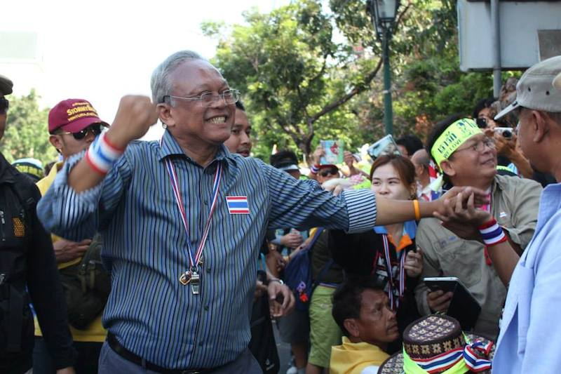 Suthep during the anti Yingluck Shinawatra protests