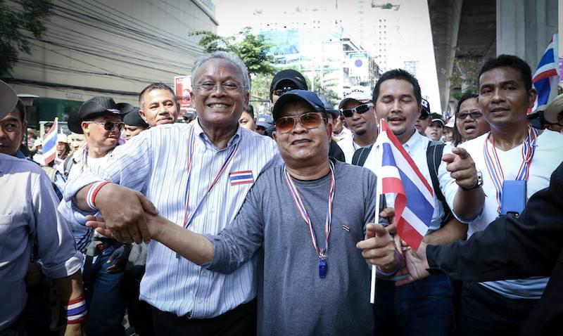 Suthep Thuagsuban during the 2014 Bangkok Shutdown protests in Bangkok