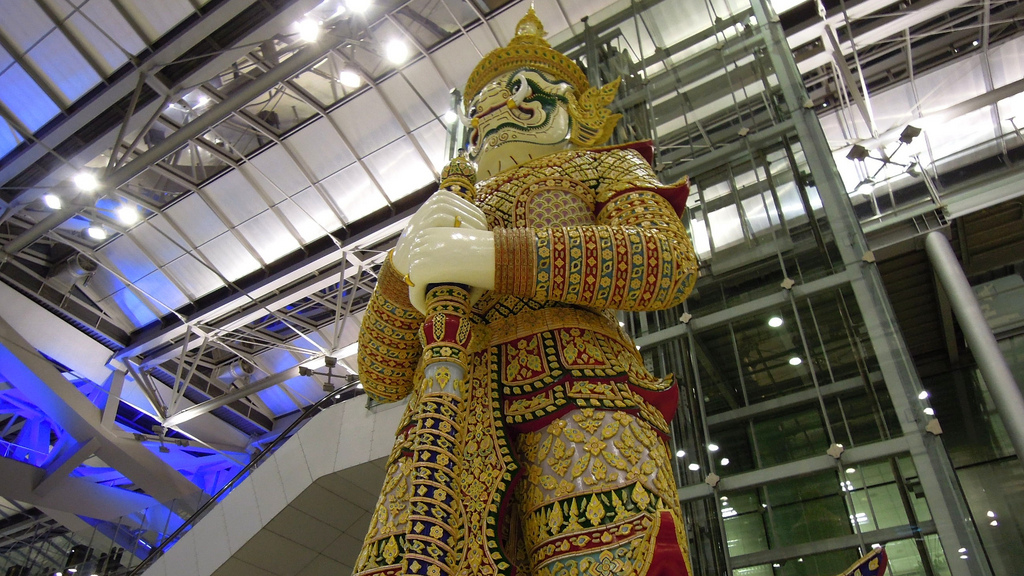 Yaksha Statue at Suvarnabhumi International Airport in Bangkok