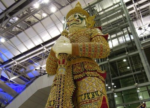 Yaksha Statue at Suvarnabhumi International Airport in Bangkok