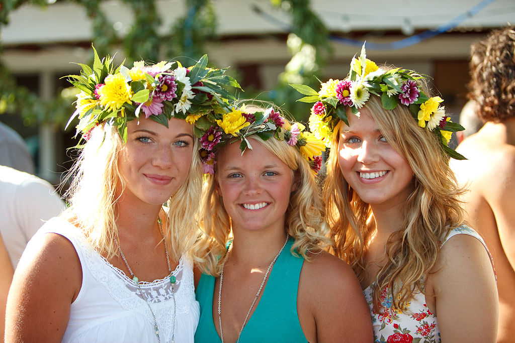 Midsummer girls in Sweden