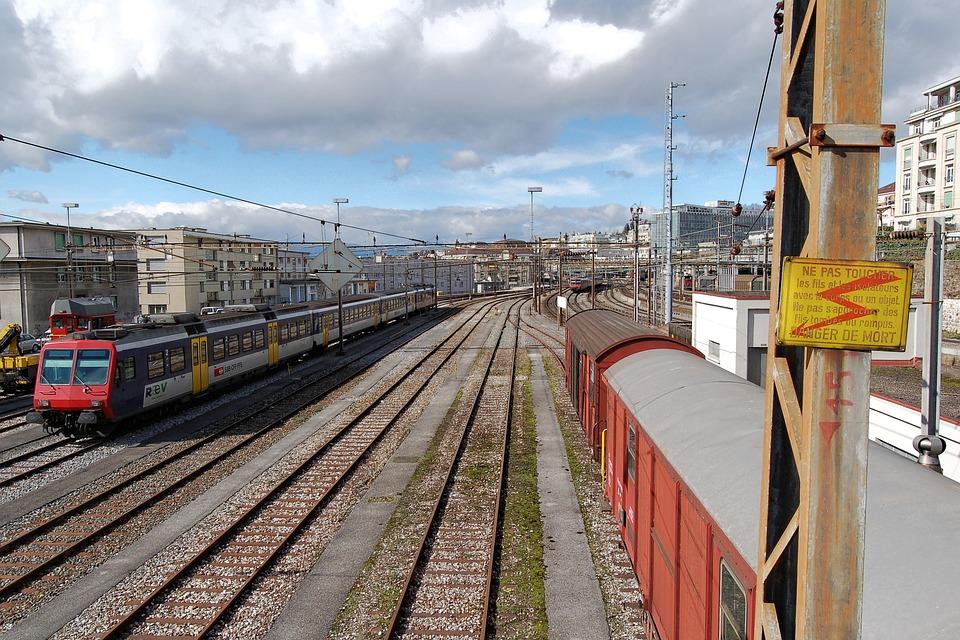 Lausanne Train Station in Switzerland