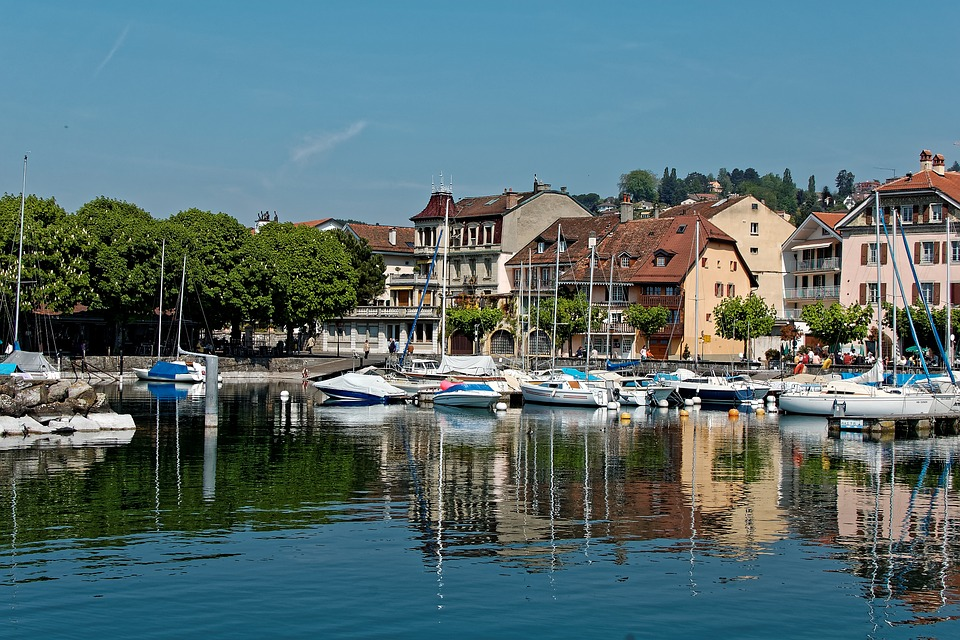 Port d'Ouchy in Lausanne, Switzerland