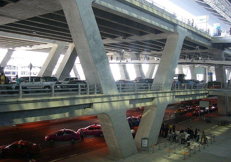 Official taxis at Suvarnabhumi International Airport in Bangkok