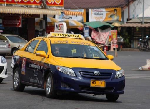 Toyota Corolla taxi in Phitsanulok, Thailand