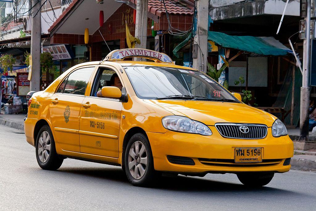 Yellow taxi-meter in Pattaya