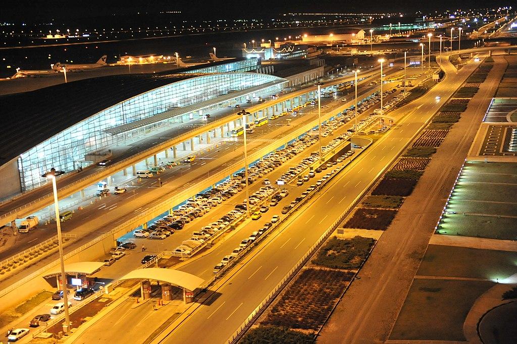 Tehran Imam Khomeini International Airport at night