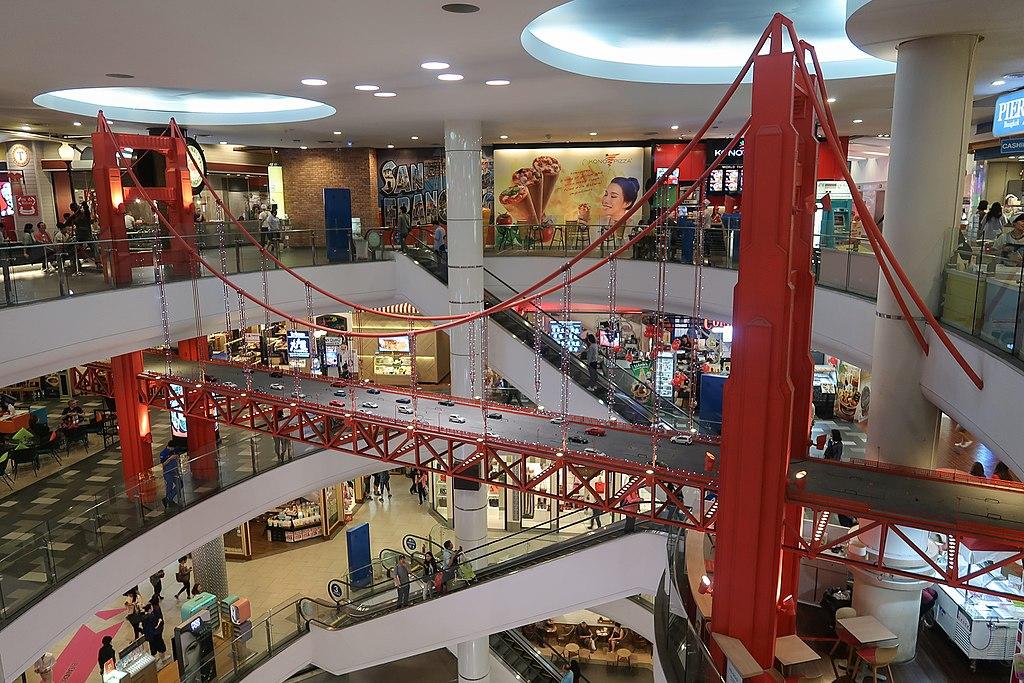 Golden Bridge inside Terminal 21 shopping mall in Korat