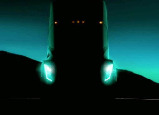 Tesla electric semi truck
