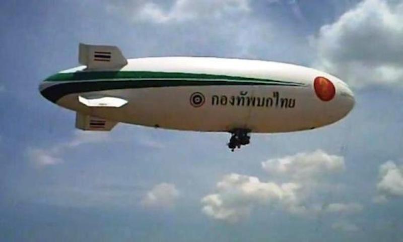 Royal Thai Army's airship crash hurts four