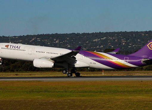 Thai Airways Airbus A330-300 aircraft taking off