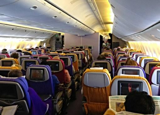 Thai Airways Boeing 777-300 heading to Bangkok from Brisbane, Australia