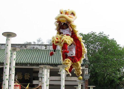 Lion dance in Foshan Guangdong, China