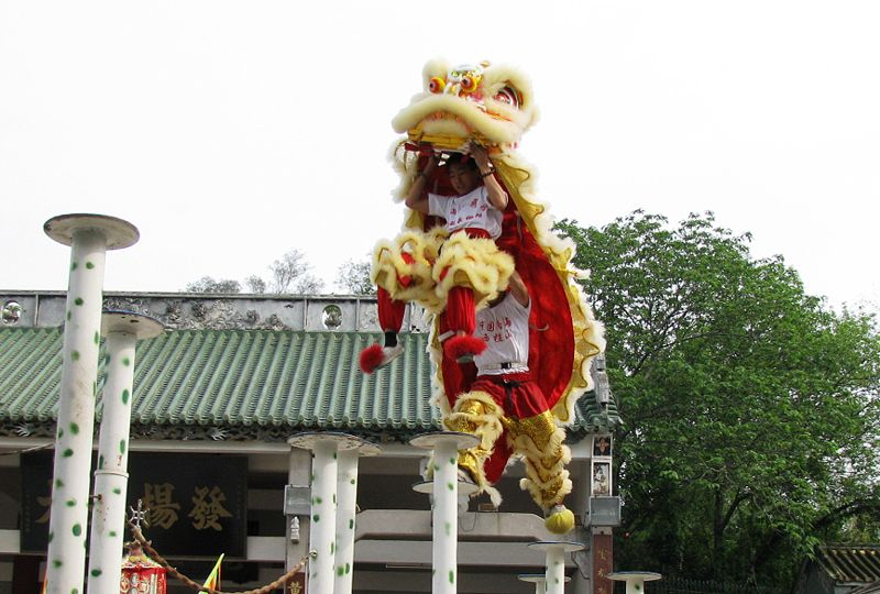 Lion dance in Foshan Guangdong, China