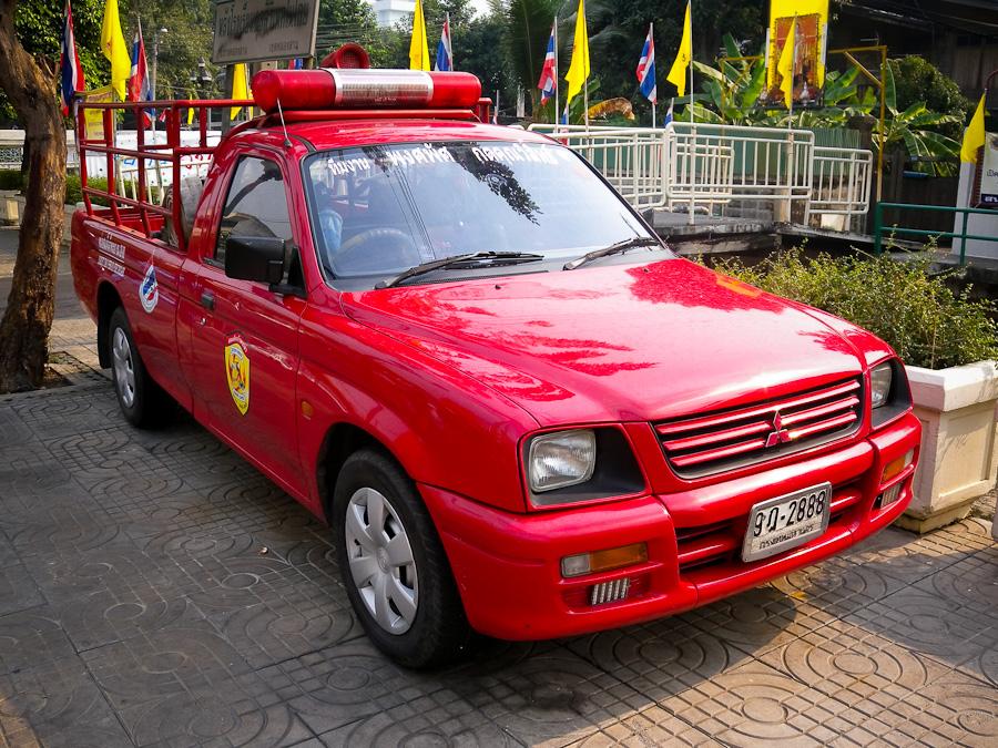 Somdet Chao Phraya Fire Brigade Fire Truck in Bangkok