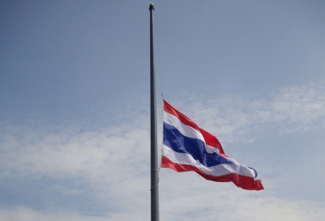 ASEAN flags flown at half-mast to honor HM the late King
