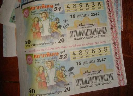 Thai Lottery ticket