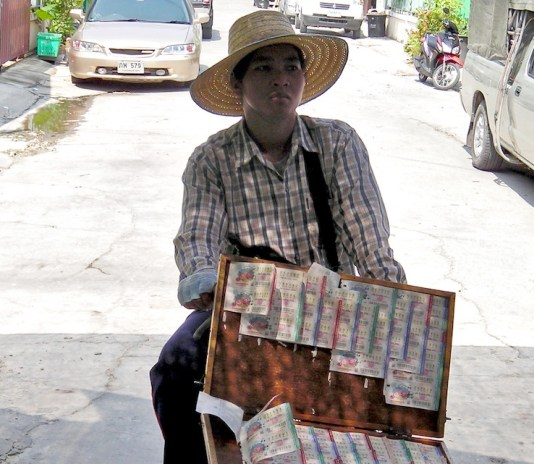 Thai Lottery vendor