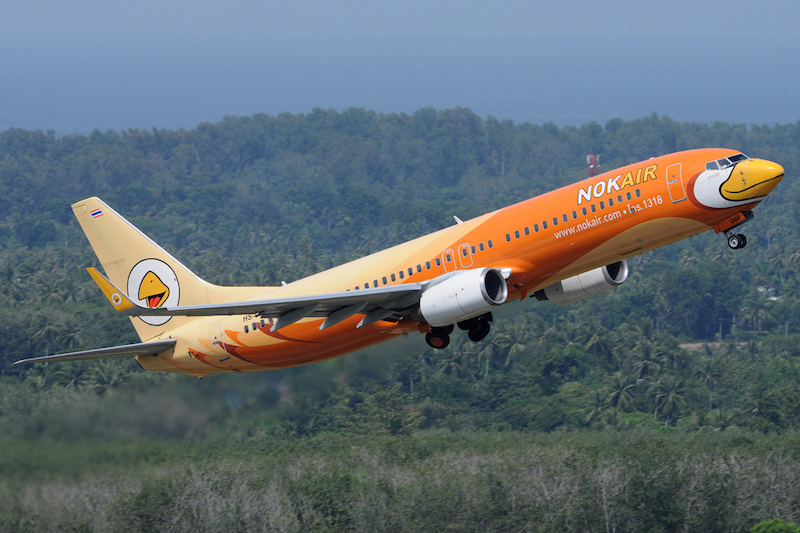 Nok Air Boeing 737-800 in Phuket
