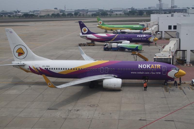 Nok Air Boeing B 737 at Don Mueang International Airport in Bangkok