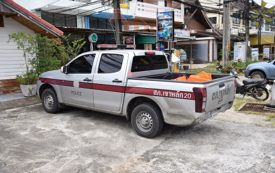 Parked Police Pickup