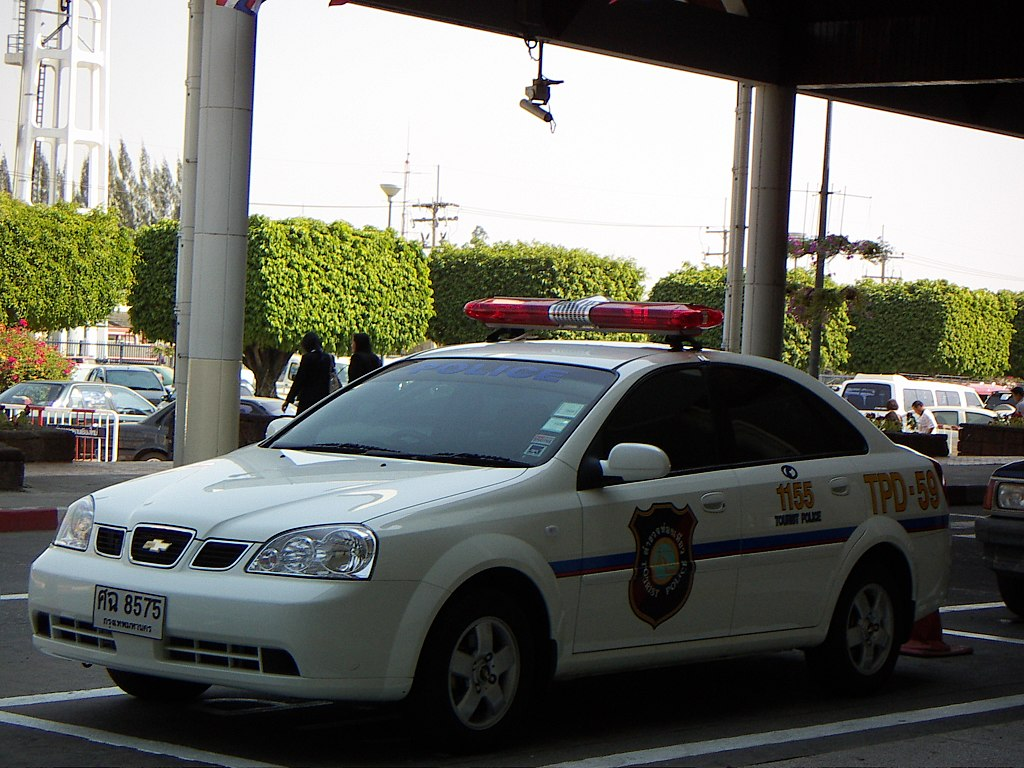 Thai Tourist police Chevrolet car