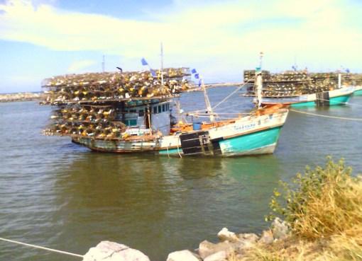 Thai Fishing boats in Cha-am