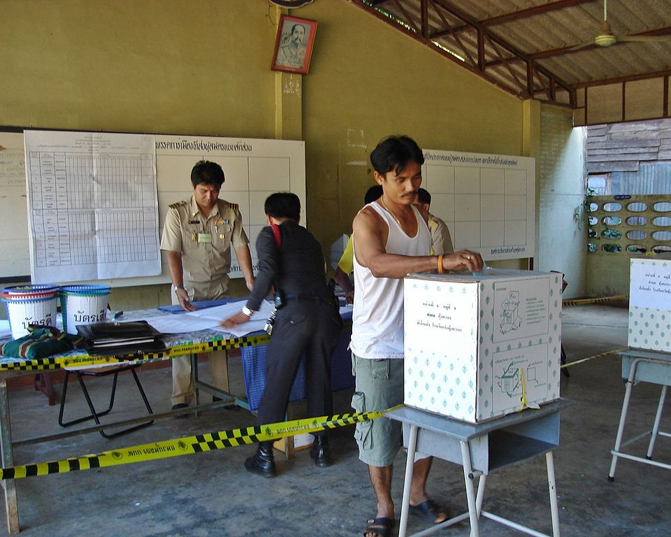 Polling station in Uttaradit Province