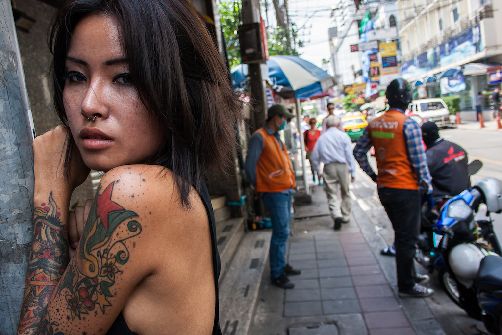Bangkok girl in the street