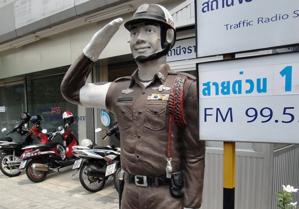 Dummy police officer in Bangkok