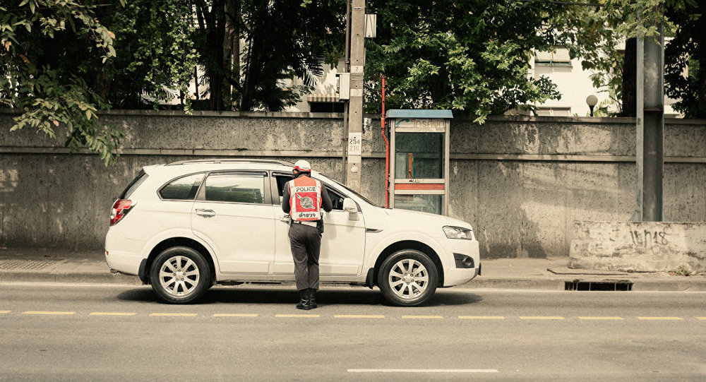 Thai Traffic Police officer